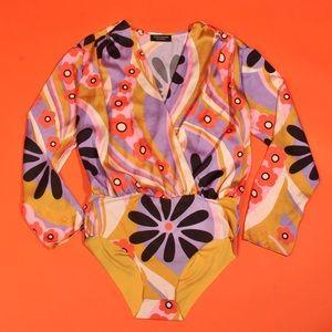 Zara Vintage 60s Inspired Bodysuit